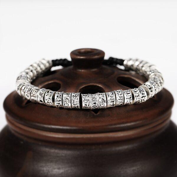 Bracelet mantra argent