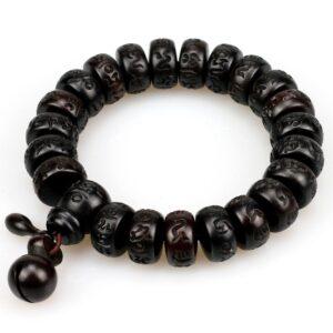 Bracelet méditation noir en bois