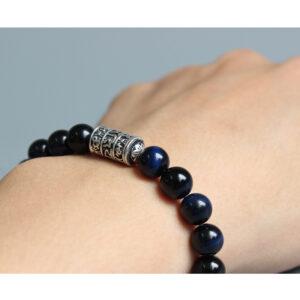 Bracelet perle bleu tibetain