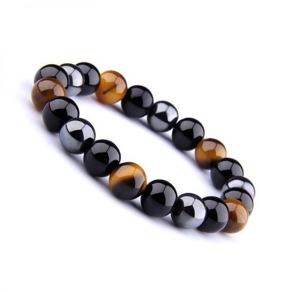 Bracelet pour homme avec pierre de protection