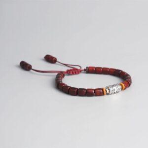 Bracelet tibétain bois ajustable