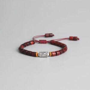 Bracelet tibétain bois mantra