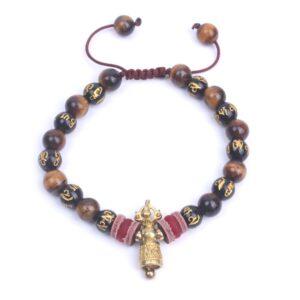 Bracelet tibétain bouddhiste mantra de compassion