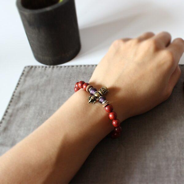 Bracelet tibétain protection bois santal