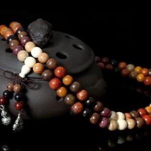 Mala tibetain 108 perles en bois