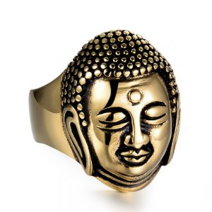 Bague bouddha couleur or