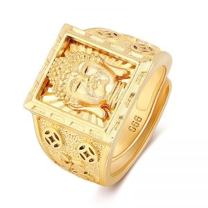 Bague bouddhiste or