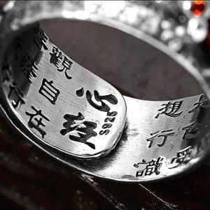 Bague en argent tibetaine ajustable