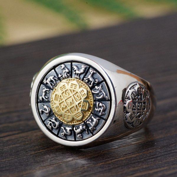 Bague fleur de lotus argent et or