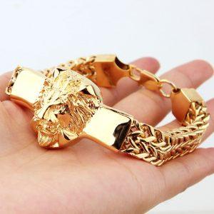 Bracelet avec tete de lion