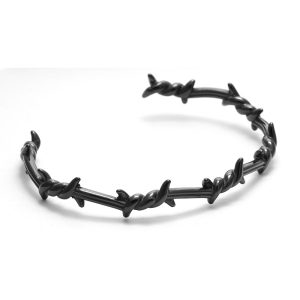 Bracelet barbelé noir