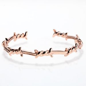 Bracelet barbelé or rose