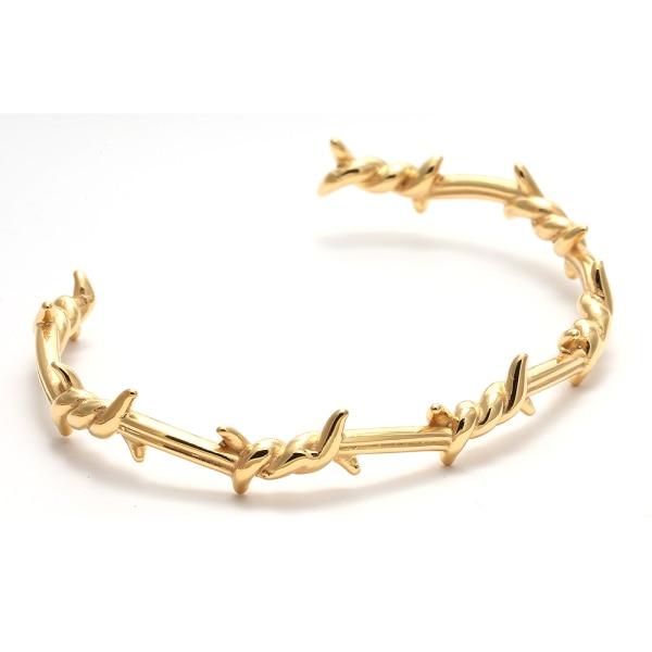 Bracelet barbelé or