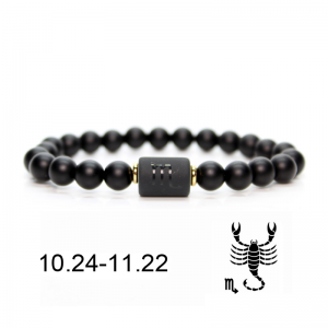 Bracelet constellation scorpion