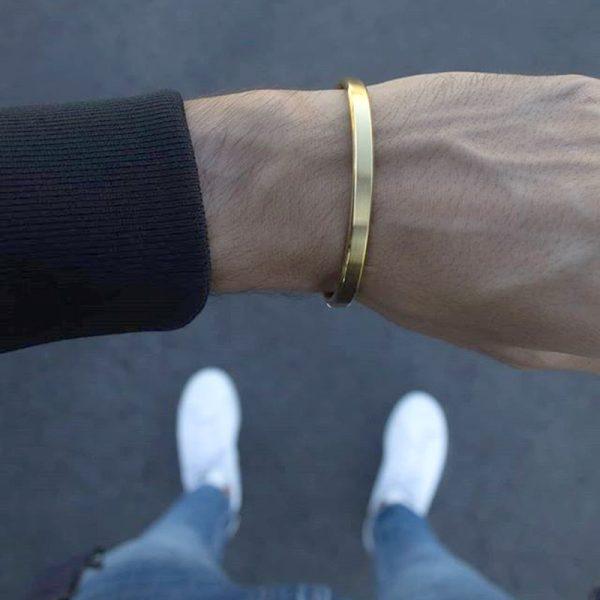 Bracelet esclave homme doré