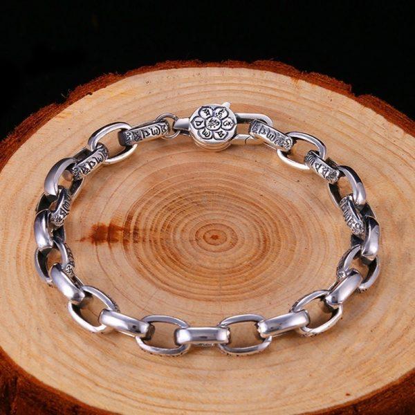 Bracelet fleur de lotus argent