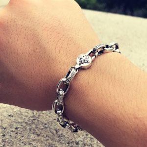 Bracelet fleur de lotus argent 925