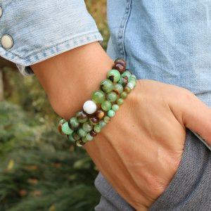 Bracelet homme en pierre de jade