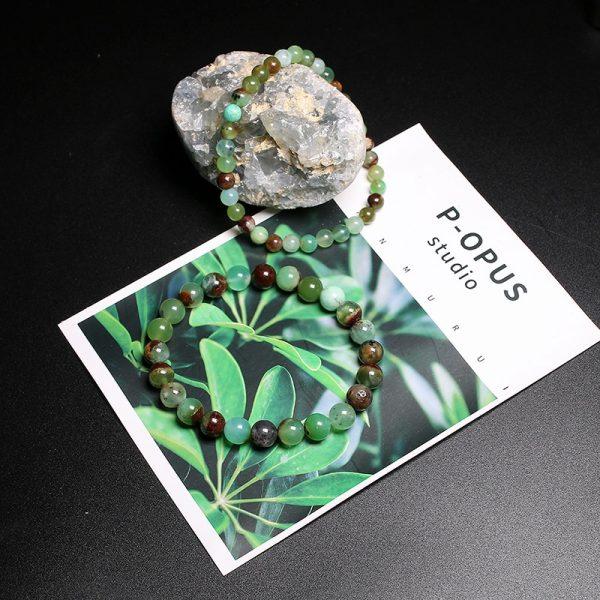 Bracelet homme en pierre de jade australien