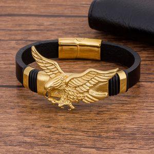 Bracelet indien doré et noir