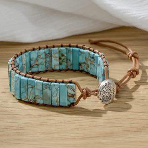 Bracelet indien en pierre de turquoise
