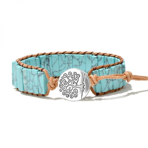 Bracelet indien pierre turquoise