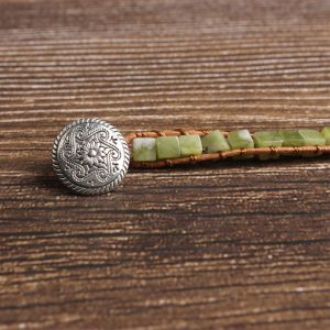Bracelet jade fermoir