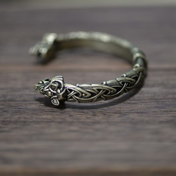 Bracelet jonc viking bronze