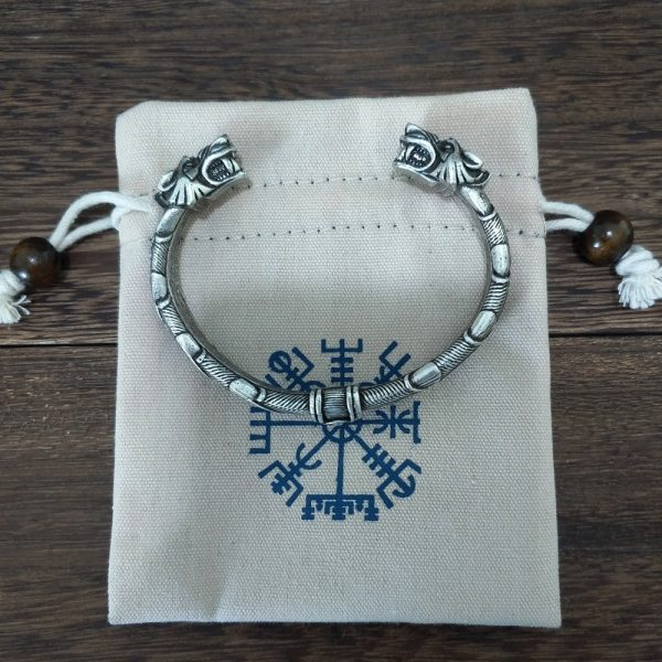 Bracelet jonc viking pochette