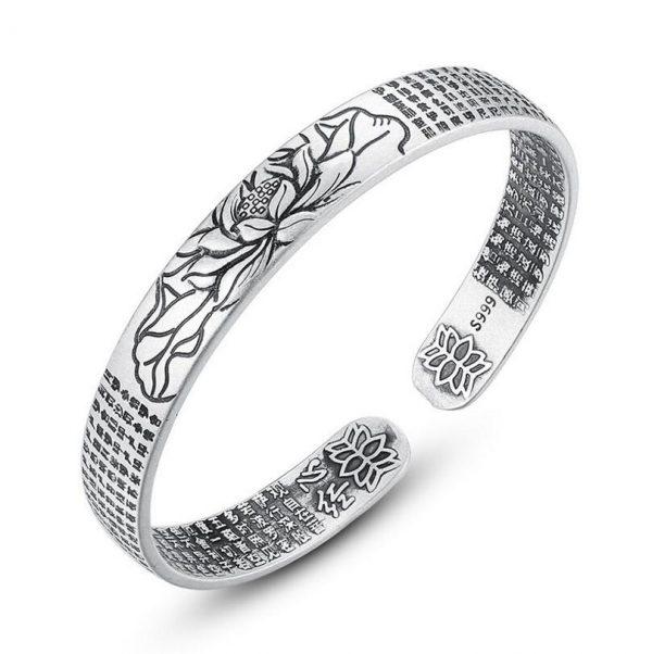 Bracelet lotus homme argent