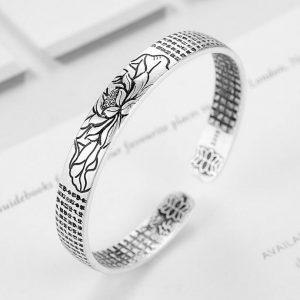 Bracelet lotus homme en argent