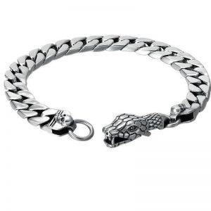 Bracelet maille de serpent homme