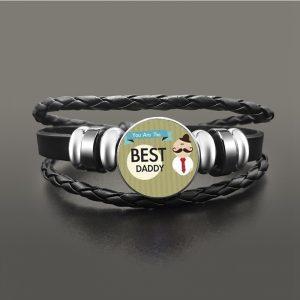 Bracelet meilleur papa cuir