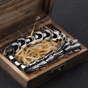 Bracelet ouroboros argent