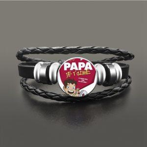 Bracelet papa je t'aime rouge