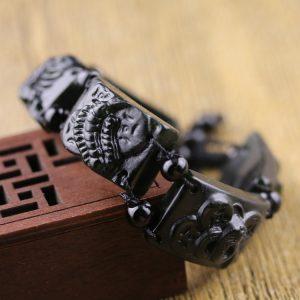 Bracelet pierre obsidienne scorpion
