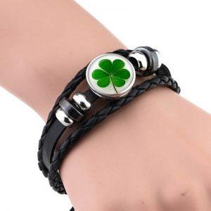 Bracelet porte bonheur trefle