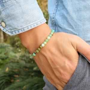 Bracelet pour homme en pierre de jade
