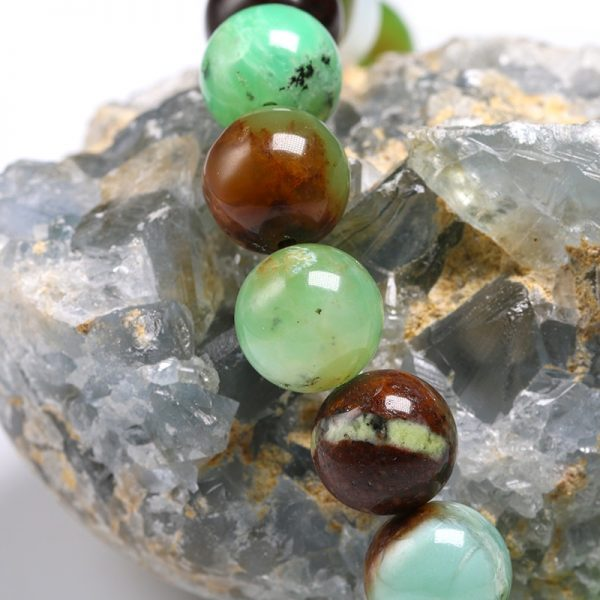 Bracelet pour homme pierre de jade australien