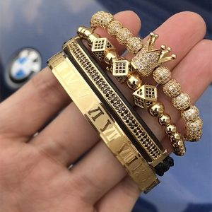 Bracelet romain homme doré