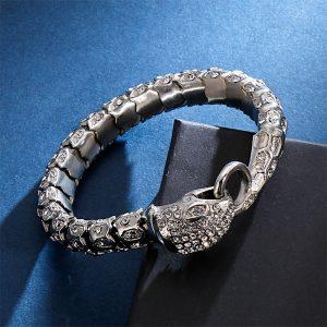 Bracelet serpent diamant