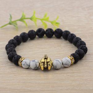 Bracelet spartiate noir et blanc