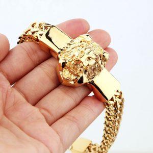 Bracelet tete de lion