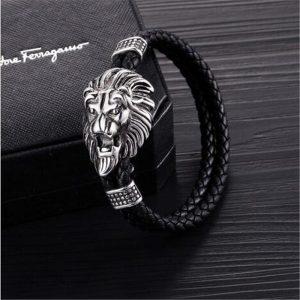 Bracelet tete de lion argent