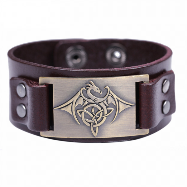 Bracelet tribal homme marron