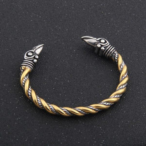Bracelet viking acier inoxydable antique