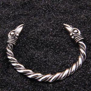 Bracelet viking acier inoxydable doré