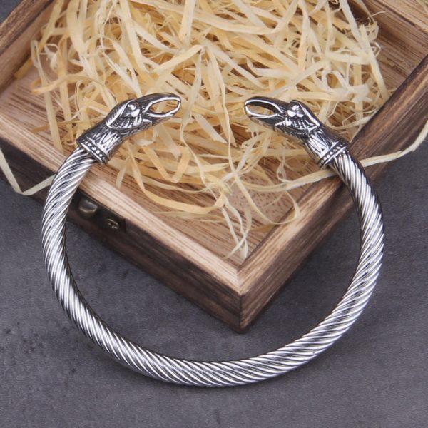 Bracelet viking acier inoxydable tressé