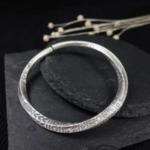 Bracelet viking argent
