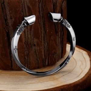 Bracelet viking argent massif